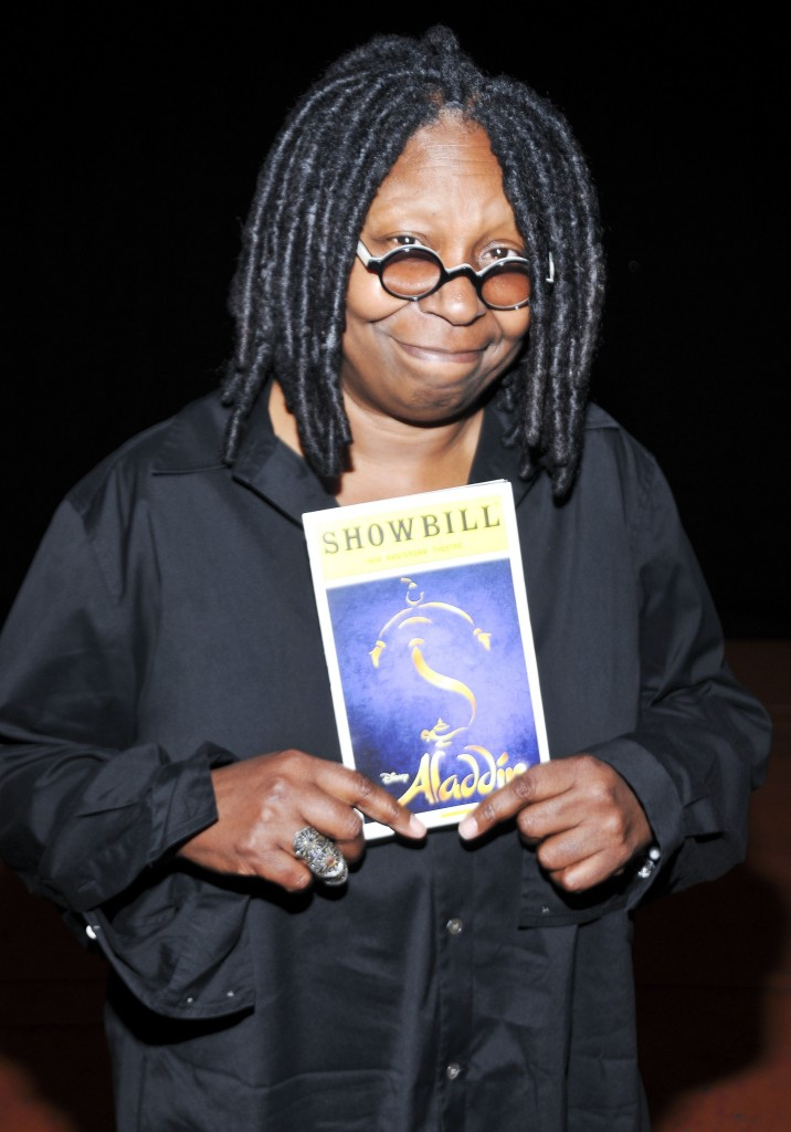 Whoopi Goldberg Backstage At Aladdin On Broadway