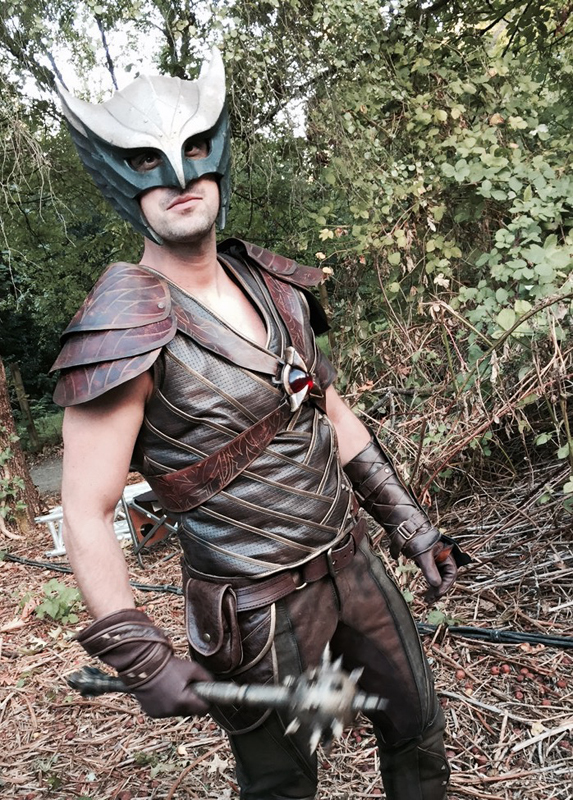 Jason Bell as the Hawkman double