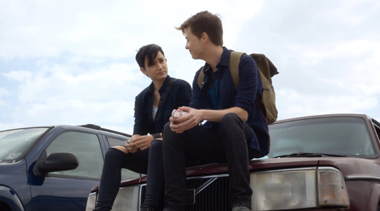 Bex Taylor-Klaus and John Karna in scream