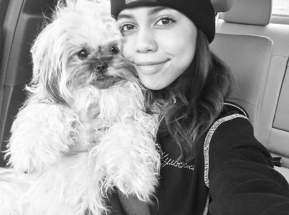 Asia Monet Ray with dog Mochi