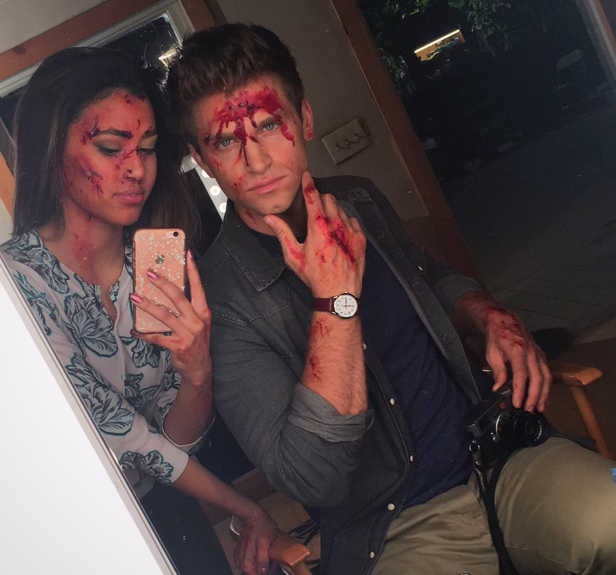 Kara Royster as Yvonne and Keegan Allen as Toby on Pretty Little Liars