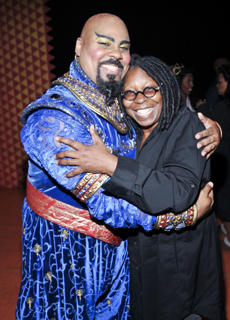 Whoopi Goldberg Backstage At Aladdin On Broadway