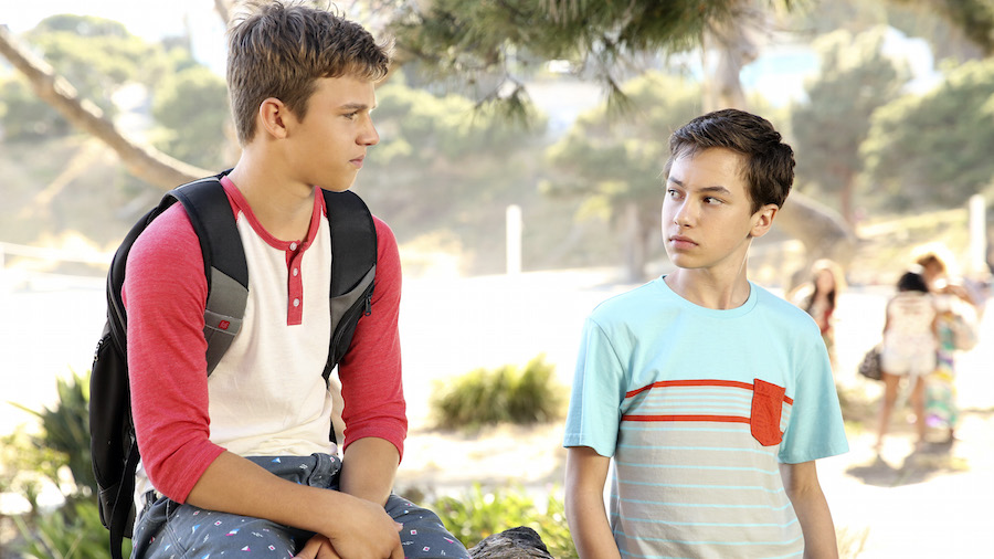 Gavin MacIntosh and Hayden Byerly in The Fosters