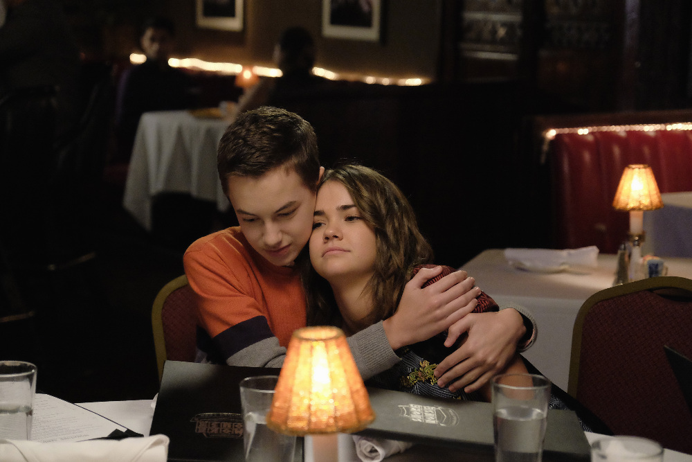 Hayden Byerly and Maia Mitchell in The Fosters 3x11