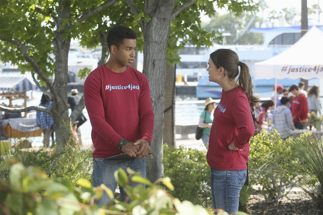 AJ and Callie in The Fosters 4x10