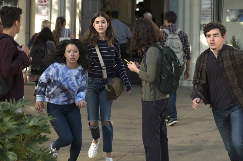 Callie, Mariana, Aaron in The Fosters 5x14